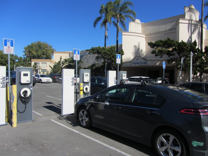 Electric Vehicle Charging Stations at Balboa Park Palisades