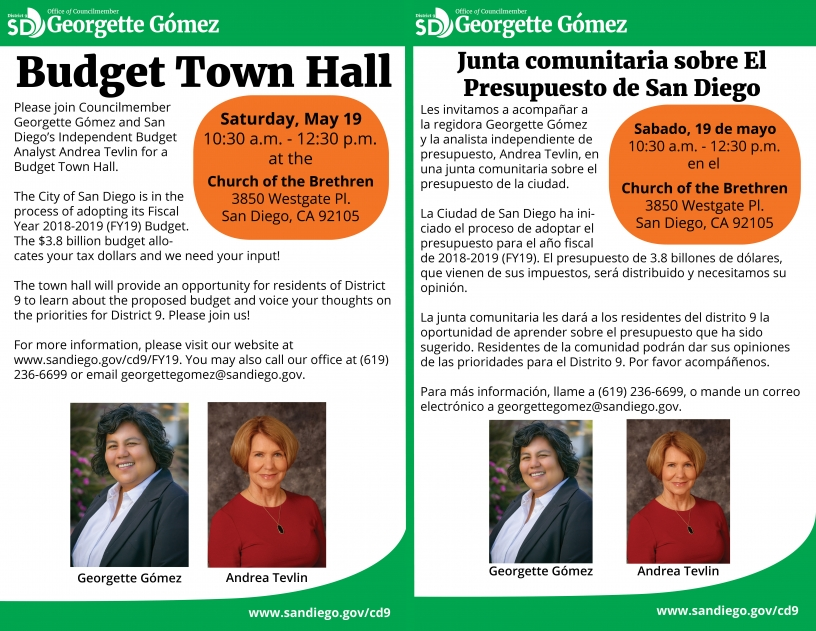 Budget Town Hall Flyer