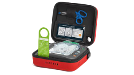 photo of open AED case