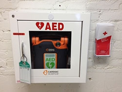 Photo of AED wall mount