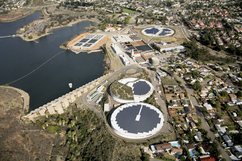 Aerial view of Alvarado Water Treatment Plant