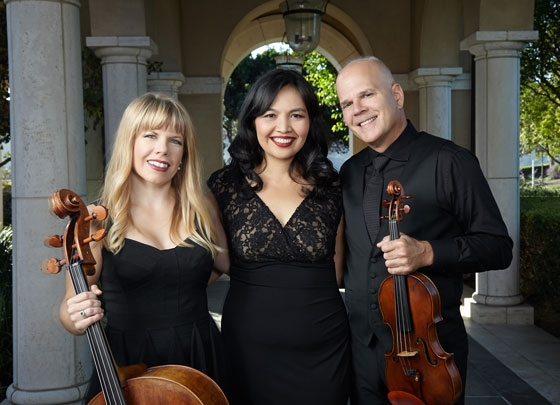 Aviara Trio; Robert Schumitzky, violin; Erin Breene, cello; and Ines Irawati, piano.
