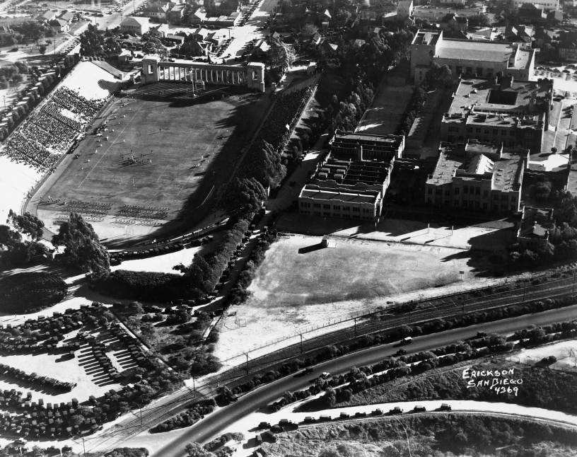Balboa Stadium Game in Progress 1927 Erickson Photo