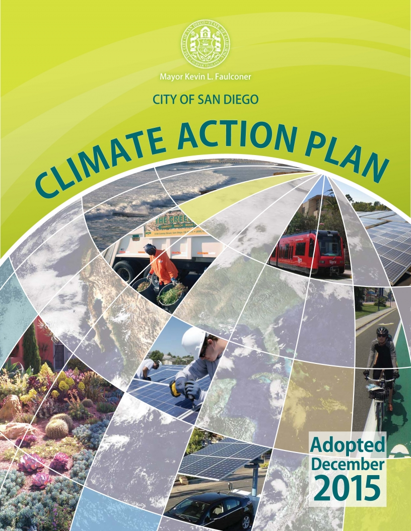 Cover page of the Climate Action Plan