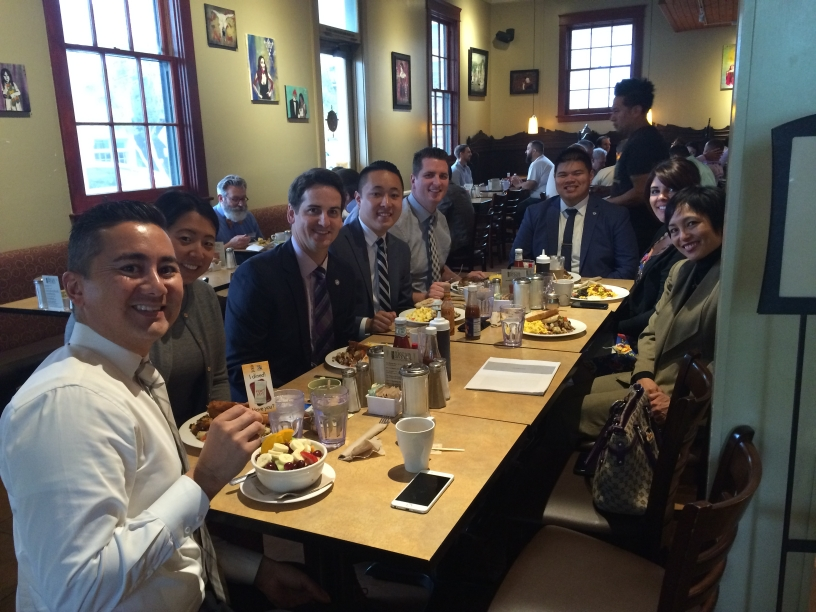 Photo of CD6 staff at lunchtime