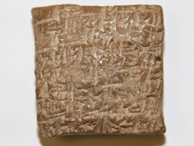 Image of clay tablet with inscriptions
