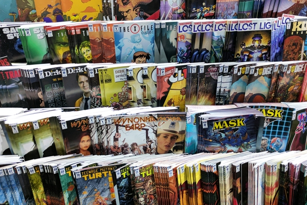 Photo of comic books