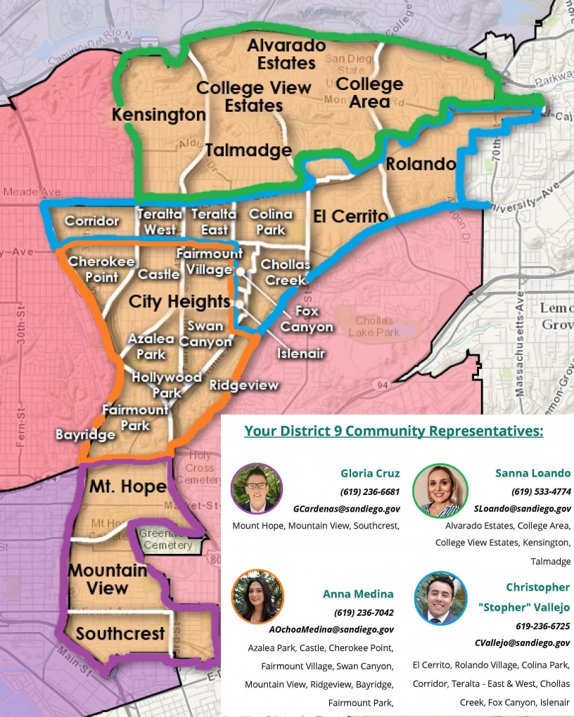 D9 Council Representative Map