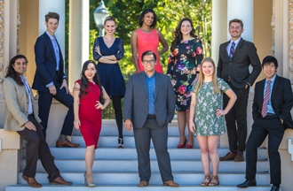 San Diego Opera's Apprentice Artists and University Partnership Singers.