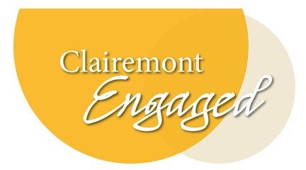 Clairemont Engage logo with two half circles