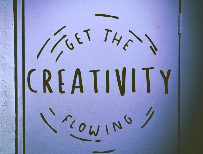 Get the creativity flowing sign