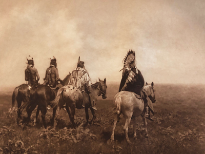 Image of Native Americans from the Edward S. Curtis Folios