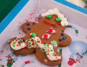 Gingerbread decorating at December Nights