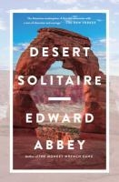 Desert Solitaire book cover