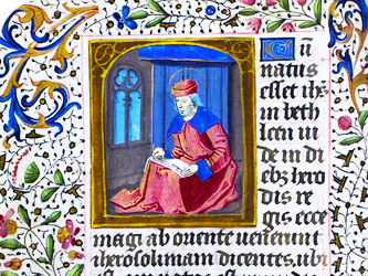 Image of an illuminated page of a book of hours