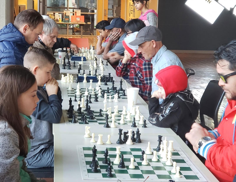 Downtown chess program at the Central Library