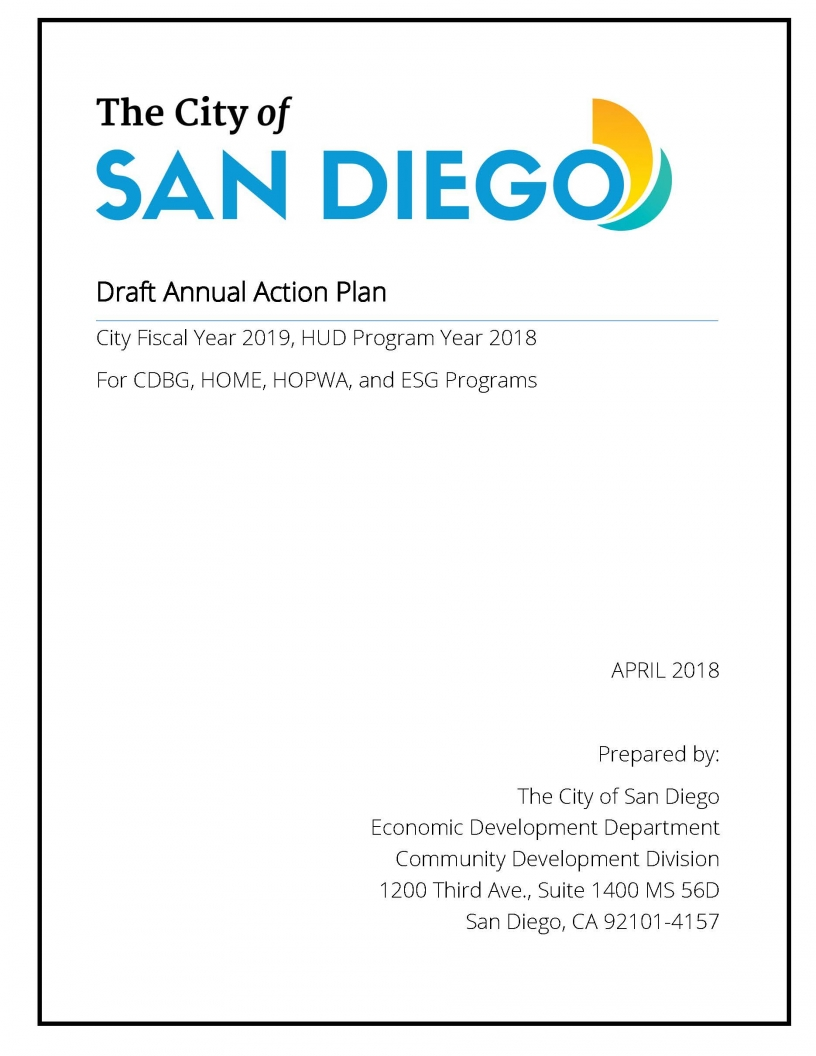 Fiscal Year 2019 Draft Annual Action Plan