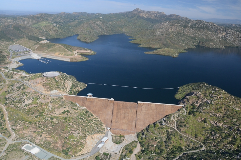 aerial photo of San Vicente Reservoir
