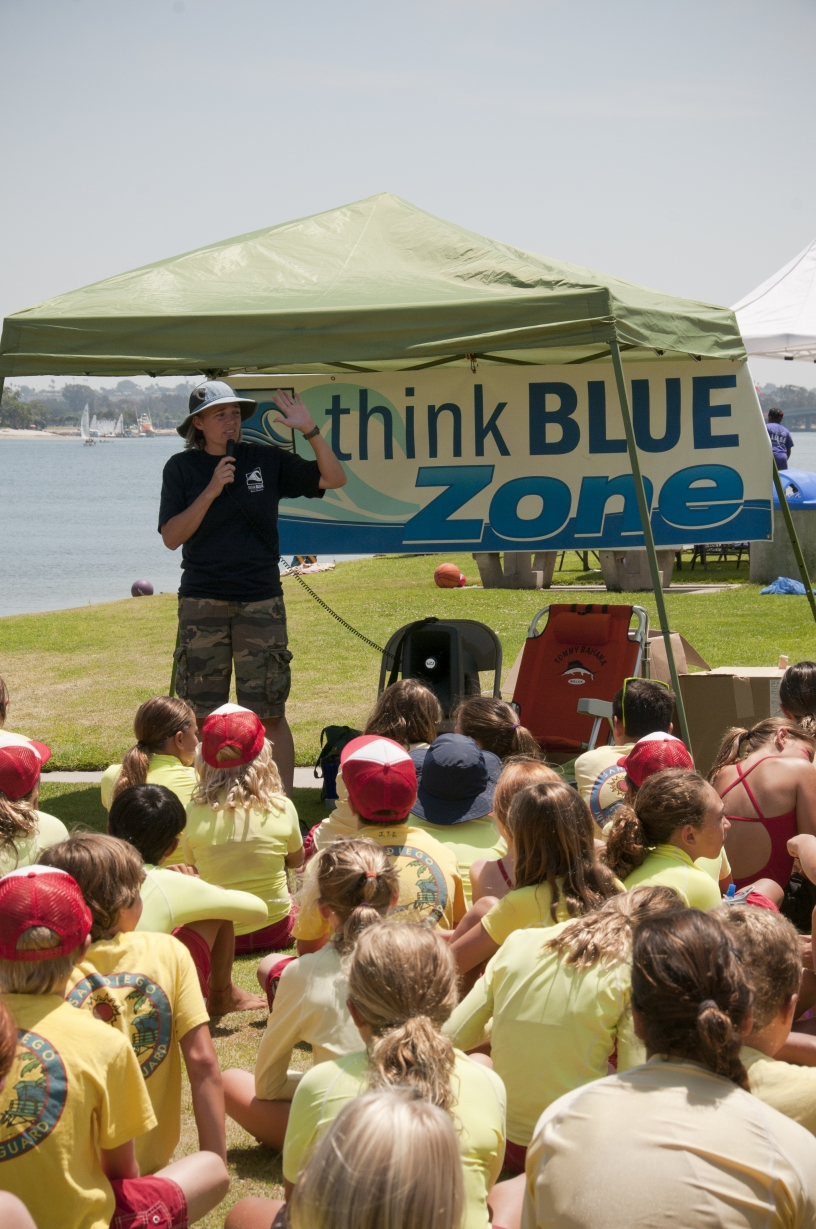 Think Blue Zone presentation to children