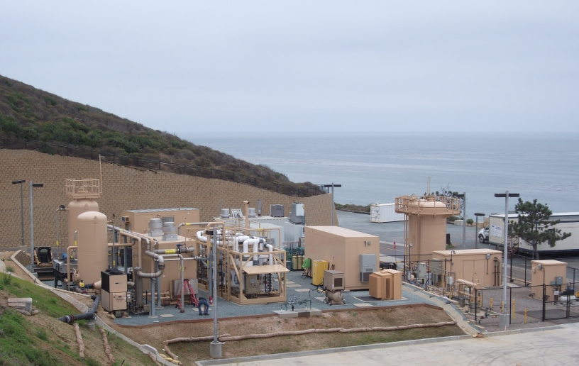 Methane system at Point Loma Wastewater Treatment Plant