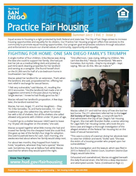 Practice Fair Housing Newsletter Summer 2017