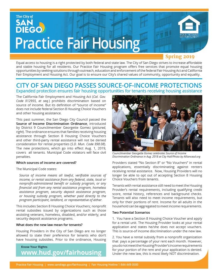 Spring 2019 Practice Fair Housing Cover