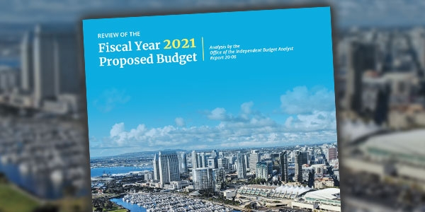Cover of IBA Report of FY21 Proposed Budget