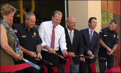 Photo of Fire Station ribbon cutting ceremony