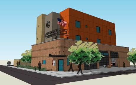 Artist's rendering of new fire station