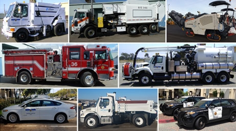 Collage of Fleet Ops vehicles