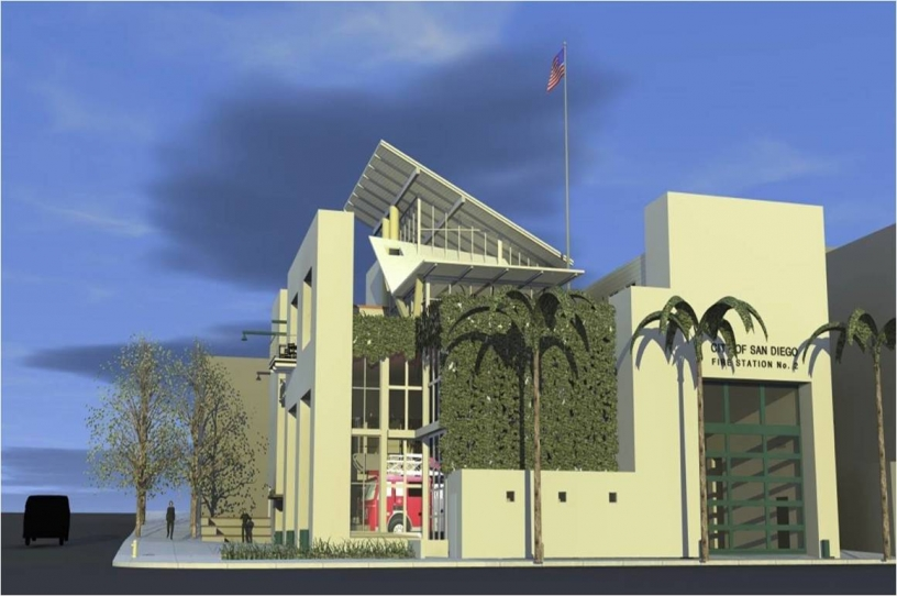 Artist's rendering of new fire station 2