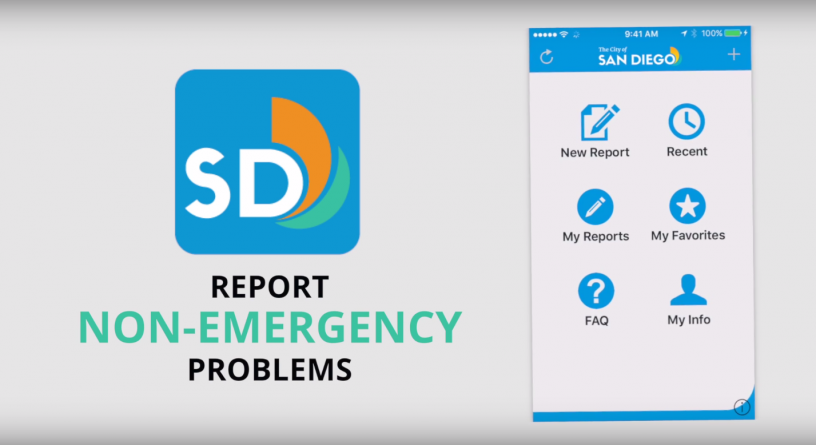 Use the new Get It Done San Diego app to request street repair and report other non-emergencies.