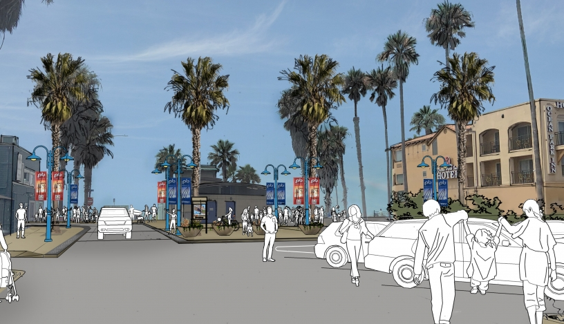 Conceptual drawing of Grand Avenue