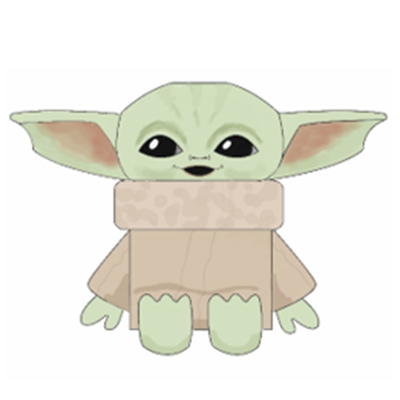 Drawing of Star War character Grogu