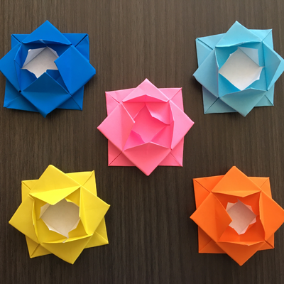 Image of lotus flower origami