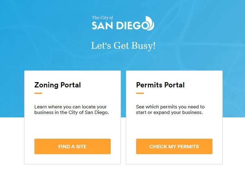 Online Business Portal landing page
