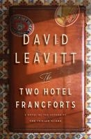 The Two Hotel Francforts - David Leavitt