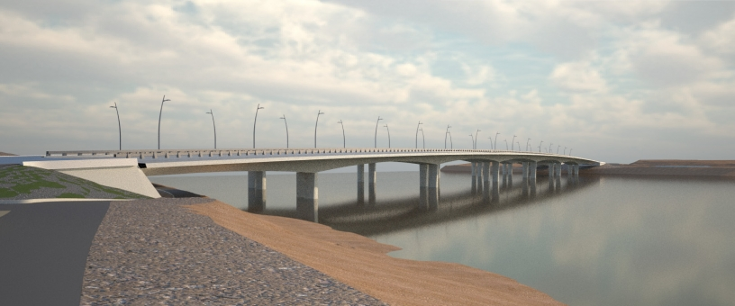 A rendering of the proposed West Mission Bay Drive Bridge