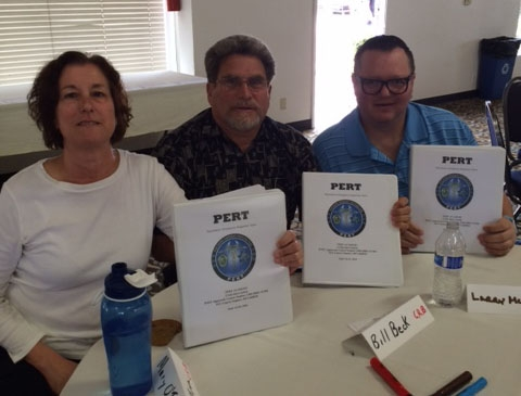 CRB 1st Vice Chair William Beck; Members Mary O'Tousa and Larry McMinn attending 3 day Psychiatric Emergency Response Team (PERT) Academy (June 14-16)