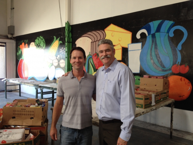 9/29/15 Kersey with Food Bank Director