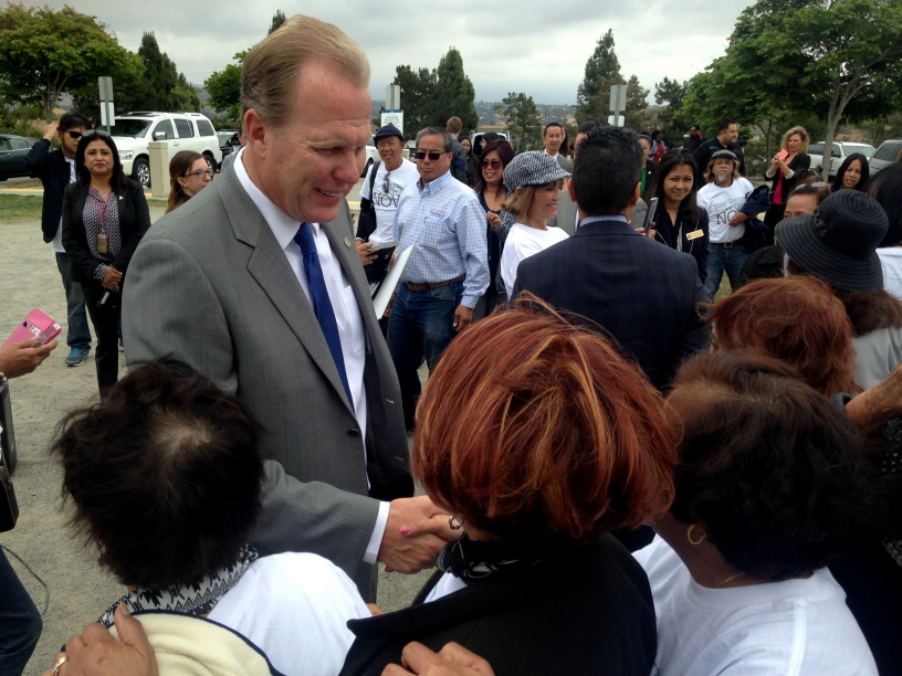 "Standing at the proposed site of the long-awaited Tooma Senior Center for southeastern San Diego, Mayor Kevin L. Faulconer today announced an updated ""One San Diego"" budget proposal."