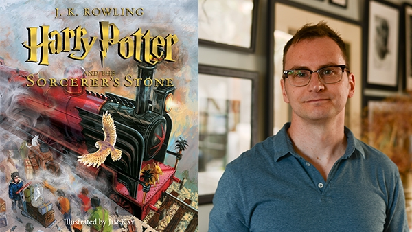 Illustrator Jim Kay and Harry Potter book