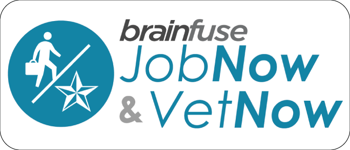 Brainfuse JobNow and VetNow logo