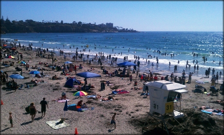 Photo of a crowded beach