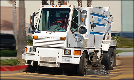Photo of street sweeper