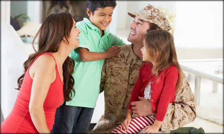 Photo of military family