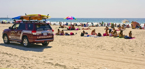 Lifeguard Truck, Beach
