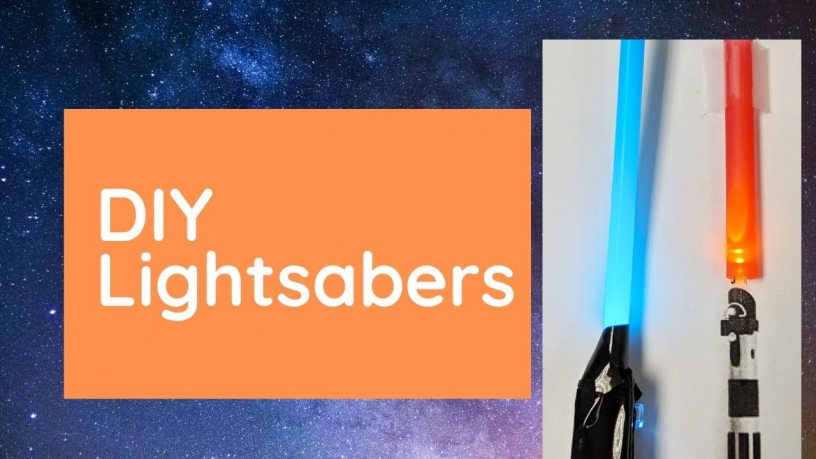 Star Wars Day lightsabers craft