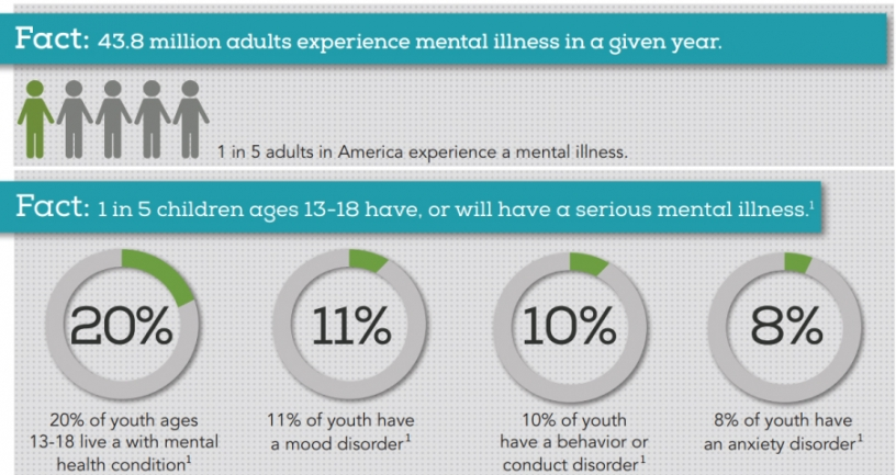 Graphic of mental health statistics