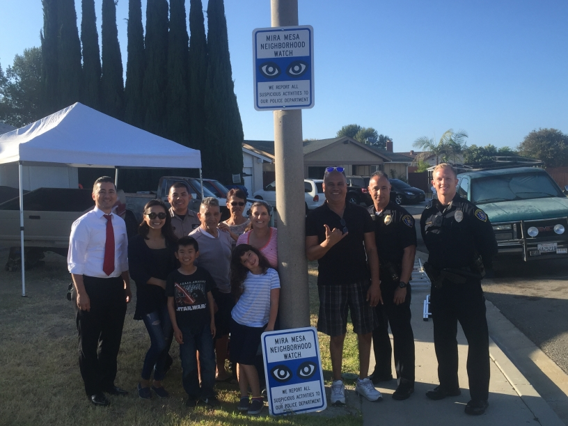 Mira Mesa neighborhood watch